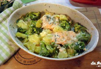 Recette : Gratin de saumon aux brocolis