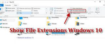 How to configure Windows to show file extensions and hidden files