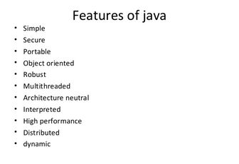 Features of Java https://t.co/kEBGs4OfQZ #java