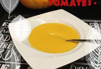 Soupe potiron, tomates..
