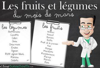 Les légumes et fruits de Mars