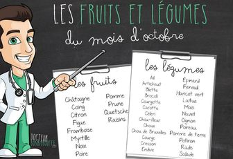 FRUITS ET LEGUMES D'OCTOBRE