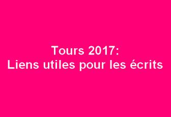Tours : les écrits 2017