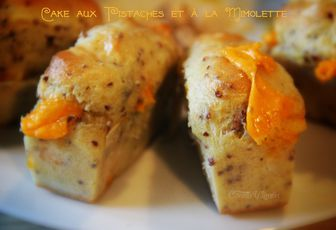 Cake aux pistaches et à la mimolette