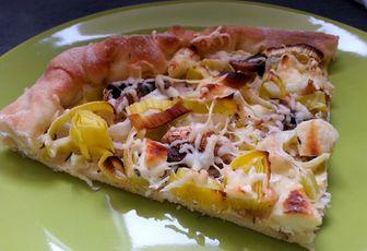 Pizza poireau & chèvre