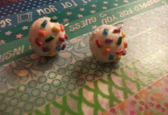 Boucles d'oreille boules de glace