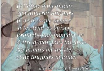 Citation de Willie Lamothe - Je t'aime mon amour -