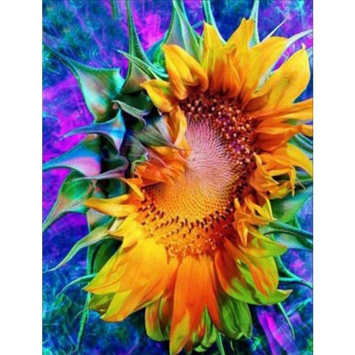 Sunflower 5D Diamond DIY Painting Embroidery Cross Stitch Kit Home Decor Craft