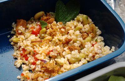 Salade de boulgour, thon et flageolets