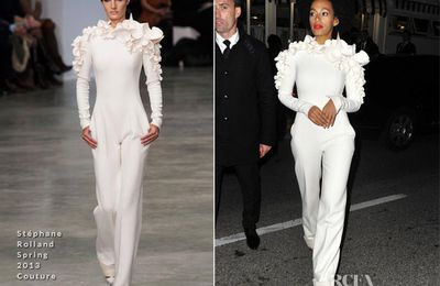 {Fashion} Solange Knowles In Stéphane Rolland Couture – Vanity Fair and Chanel Party