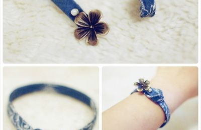 DIY fresh fabric handmade bracelet