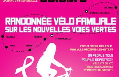 Maizières-lès-Metz Octobre sera rose Randonnée vélo familiale le 18 octobre