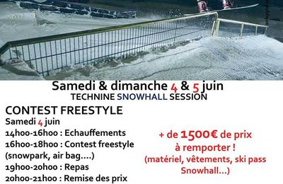 Amneville Contest Freestyle Snowhall 4 et 5 juin 2016