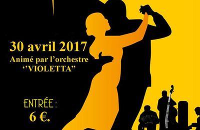 Créhange  thé dansant avec l'orchestre Violetta le 30 avril