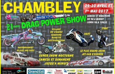 Chambley Planet'Air 21ème Drag Power Show du 29 avril au 1er mai 2017