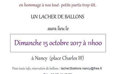 Nancy, lâcher de ballons le 15 octobre 2017