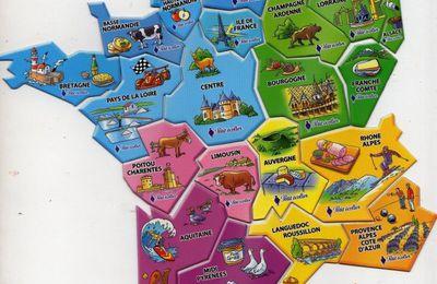 Magnet PETIT ECOLIER : carte de France