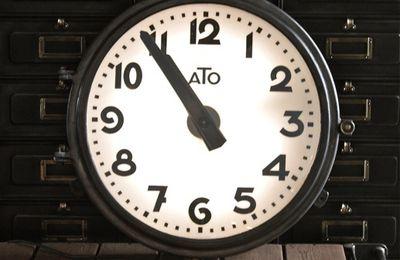 Horloge industrielle (vendu)
