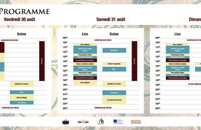 Programme des Celtiques de Vivisco 2013