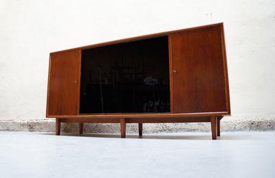 Buffet vintage années 50 60 70 design bois enfilade meuble