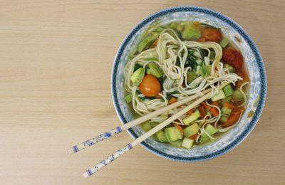 Recette #3 ; nouilles sautées aux -derniers- légumes du soleil