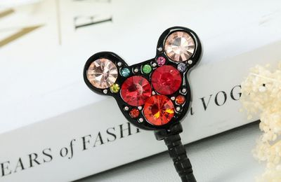 19ea01a06d24ef Dangle butterfly Pearl iPhone Dust Plug Charm - iphonedustplug ...