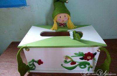 Boite à mouchoir elfe