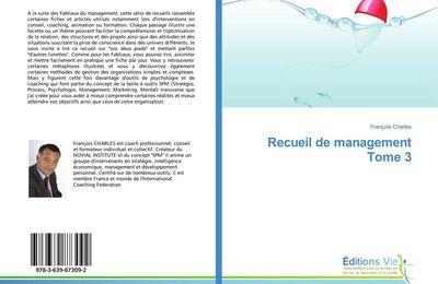Recueil de management - tome 3