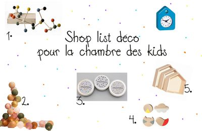 Shop List déco #17: Customiser facilement la chambre des kids