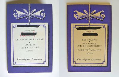 """Oeuvres choisies"" T.1&2 Diderot, Classiques Larousse 1963"
