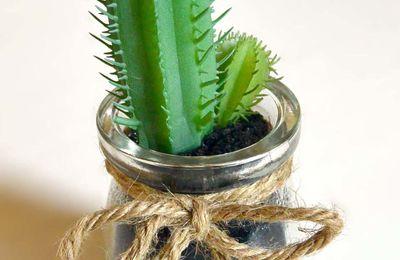 Mini cactus Euphorbe artificiel 14cm