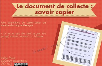 """Le document de collecte : un """"savoir copier"""""""