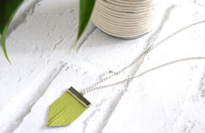 Collier en simili cuir - DIY