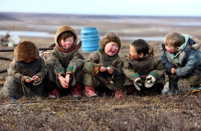 Children's smile in Life behind polar circle.