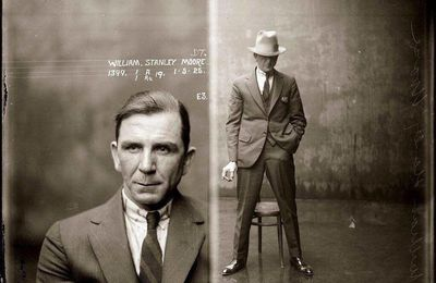 A mugshot in 1925.