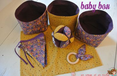 Baby box violette et moutarde