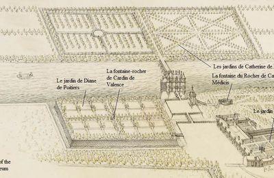 Le jardin des Bohier au château de Chenonceau: un jardin clos de mur