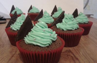 Cupcakes chocolat-menthe façon After-Eight
