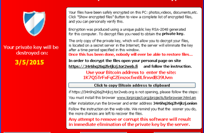 How to protect your system from TeslaCrypt Ransomware version 2.0.0