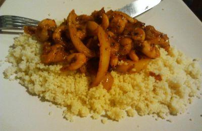 Crevettes sautées en sauce tomate