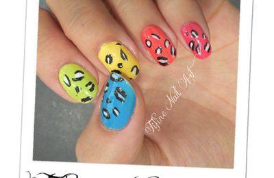 Un léopard tout en couleurs