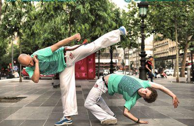 Démonstration de Capoeira à Paris pour la marque Puma, avec Jogaki