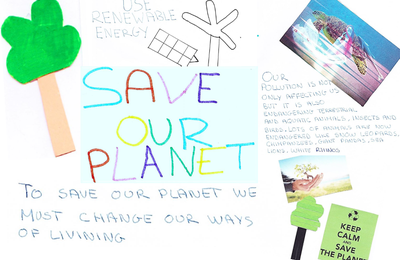 Our planet Earth is in danger! Look at our poster and read our articles.