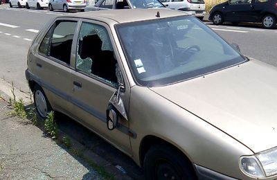 Bègles polluer par le voitures volées et cassées ! La police fait quoi?