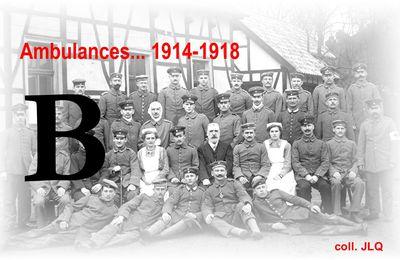AMBULANCES... 1914-1918 – Lettre B