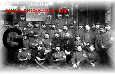AMBULANCES 1914-1918 – Lettre G