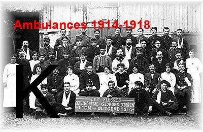 AMBULANCES 1914-1918 – Lettre K