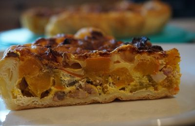 Tarte potimarron au cantal