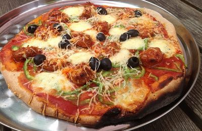 Pizza à la soubressade