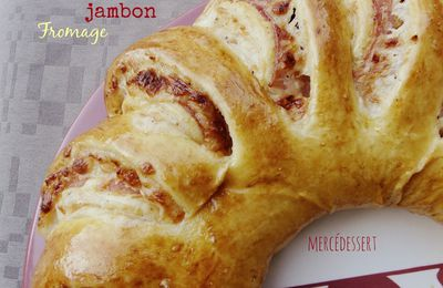 Couronne jambon fromage béchamel